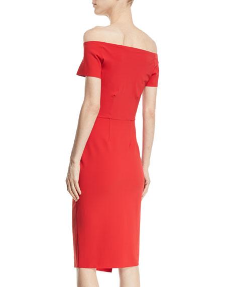 Devis Off-the-Shoulder Ruched Dress