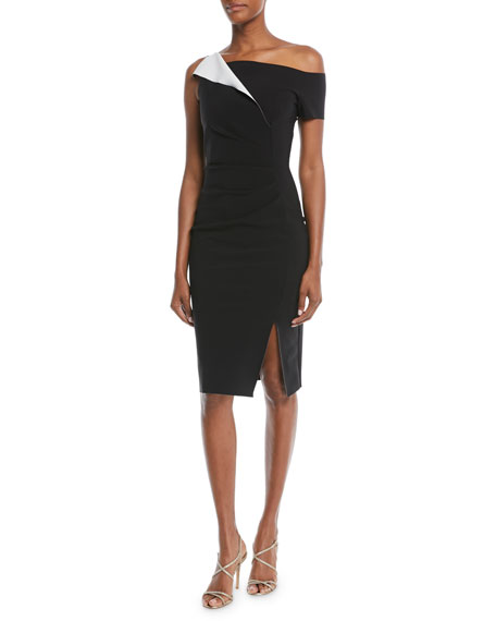 Chiara Boni La Petite Robe Affie Asymmetric One-Shoulder