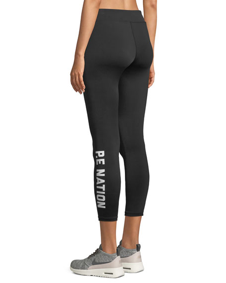 Sport Parade Striped Cropped Leggings