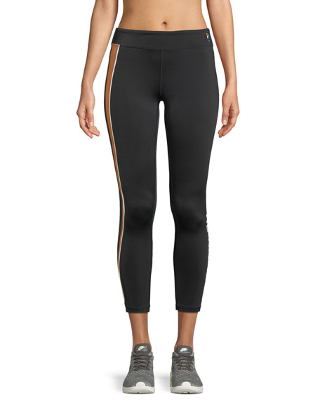 PE Nation Sport Parade Striped Cropped Leggings