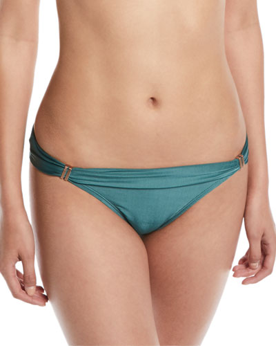 Bia Solid Full Swim Bikini Bottom, Green