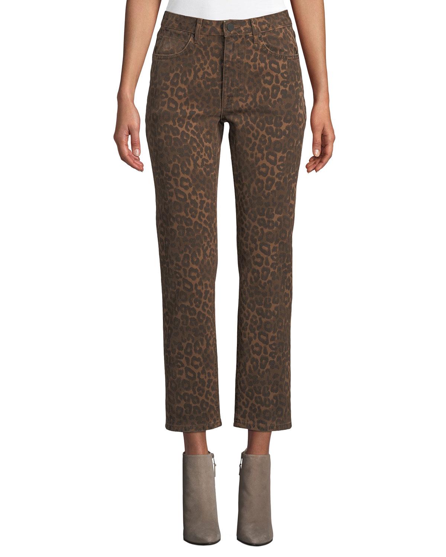b2e384590627 alexanderwang.t Cult Cropped Leopard-Print Jeans | Neiman Marcus