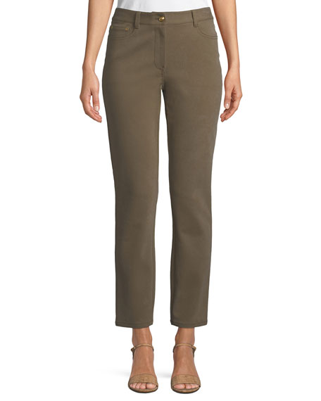 Tory Burch Vanner 5-Pocket Compact Stretch Cropped Skinny Jeans