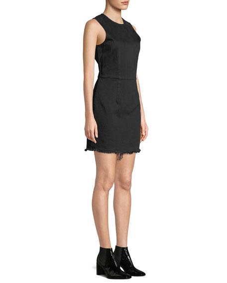 alexanderwang.t Frayed Twill Sleeveless Mini Dress