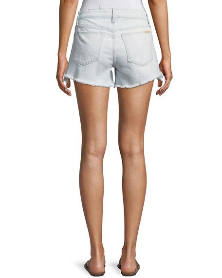 The Boyfriend Cutoff Lace-Up Denim Shorts