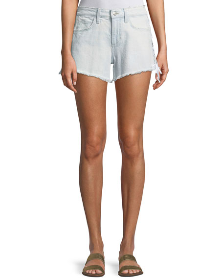 The Boyfriend Cutoff Lace-Up Denim Shorts