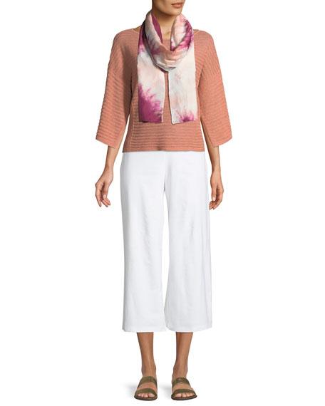 Organic Linen Handkerchief-Sleeve Top, Petite
