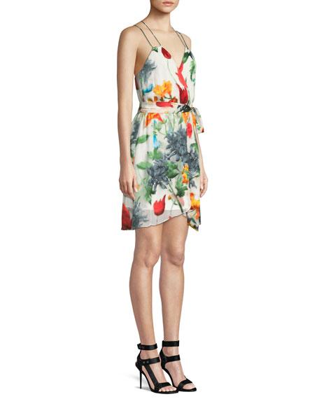 Susana Floral Faux-Wrap Dress