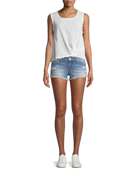 Joey Distressed Cutoff Denim Shorts