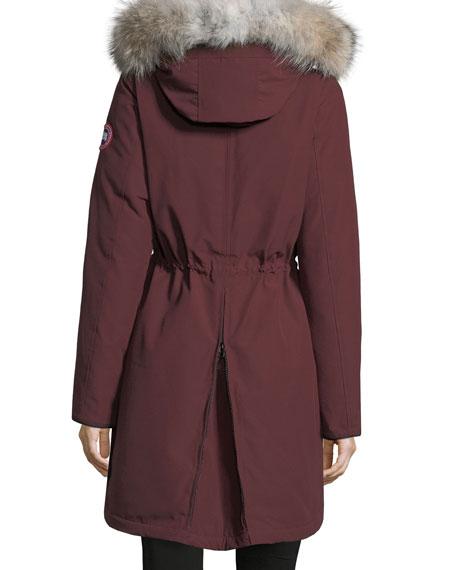 Rossclair Fur-Trim Hooded Down Parka