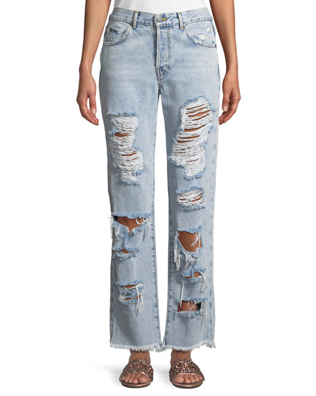 AO.LA by Alice+Olivia Genevive Extreme Distressed Girlfriend