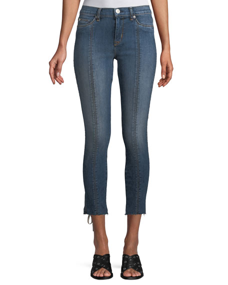 Nico Super Skinny Lace-Up Cropped Jeans