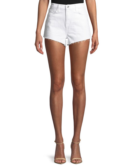 L'Agence Ryland High-Rise Denim Cutoff Shorts