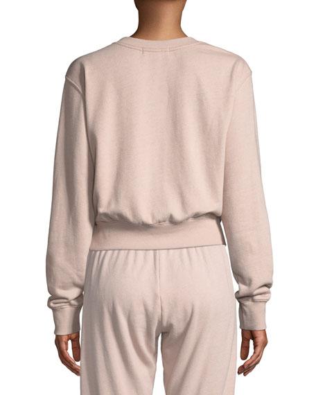Varsity Cropped Logo Pullover Sweatshirt