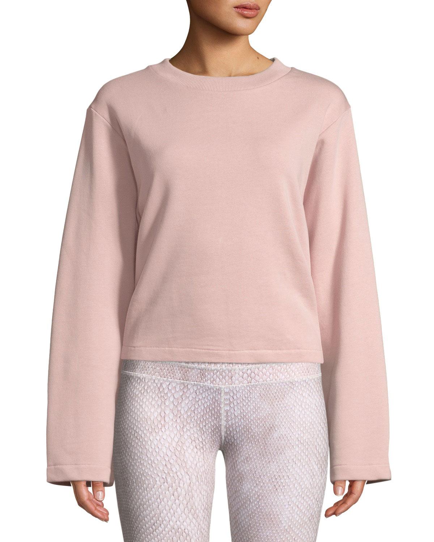 cfd2605426fa90 Varley Weymouth Tie-Back Cotton Sweatshirt | Neiman Marcus