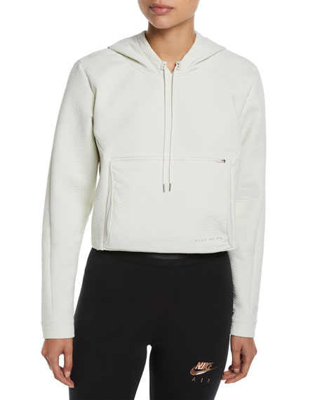 Nike Packable Tech Cropped Pullover Hoodie