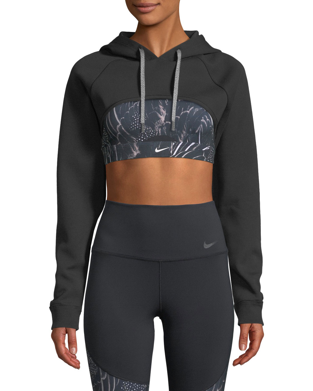 b4b704e9ac06 Nike Dri-FIT Hooded Pullover Training Shrug Top