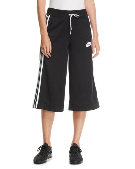 Nike Activewear Cropped Drawstring Track Pants w/ Racer Stripes