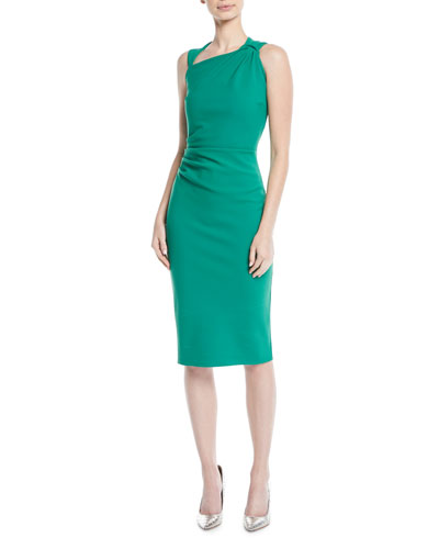 Hena Asymmetric Sheath Dress