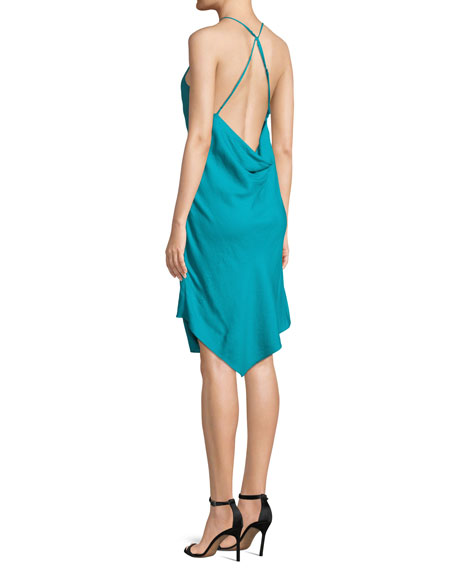 Poolside Wrap-Front Sleeveless Mini Dress