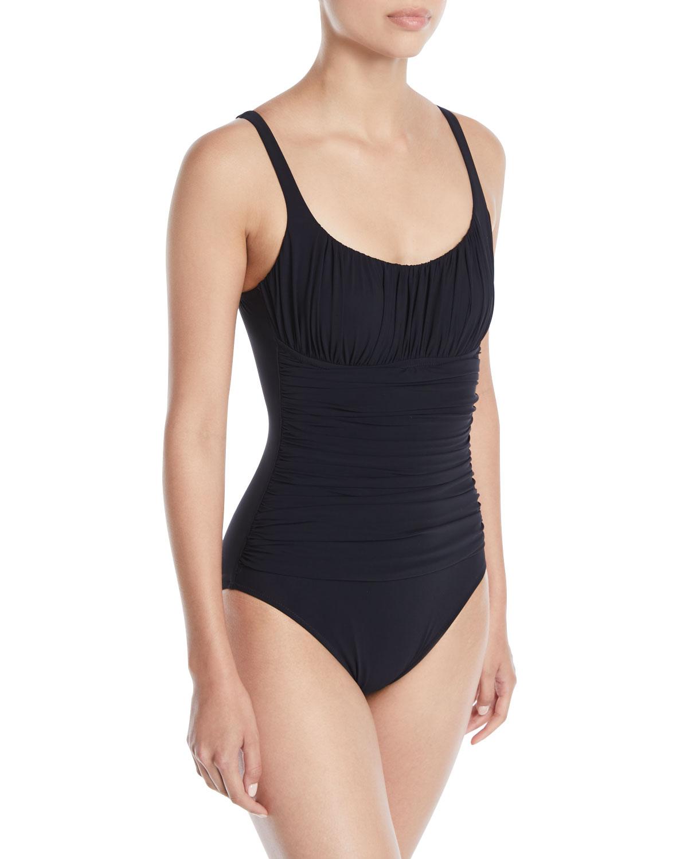 7e01114e50 Profile by Gottex Tutti Frutti Shirred One-Piece Swimsuit | Neiman ...