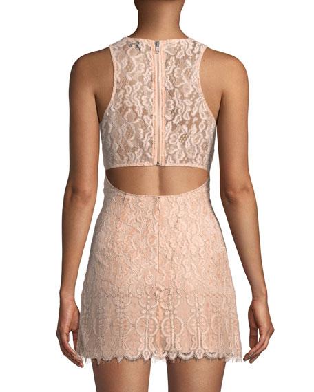 NBD Brianna Lace Mini Dress w/ Cutout