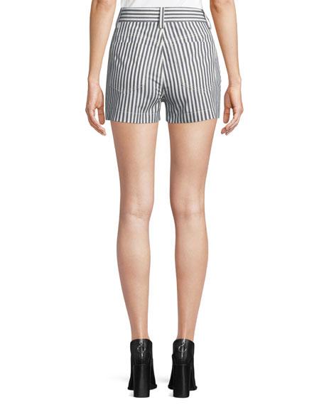 Derek Lam 10 Crosby Striped Button-Fly Shorts
