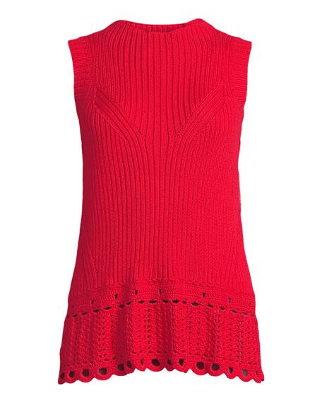 Scalloped Crochet Shell Top