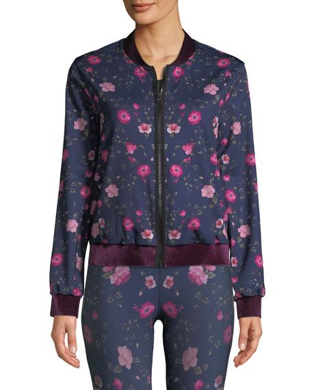 Stealth Botanica Floral-Print Bomber Jacket
