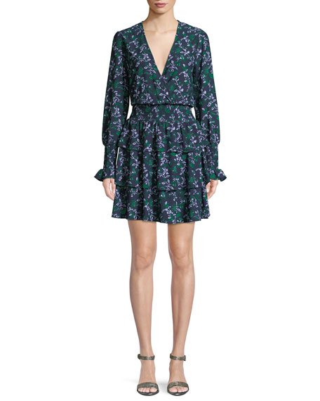 MICHAEL Michael Kors Floral Dress w/ Multi-Tier Skirt