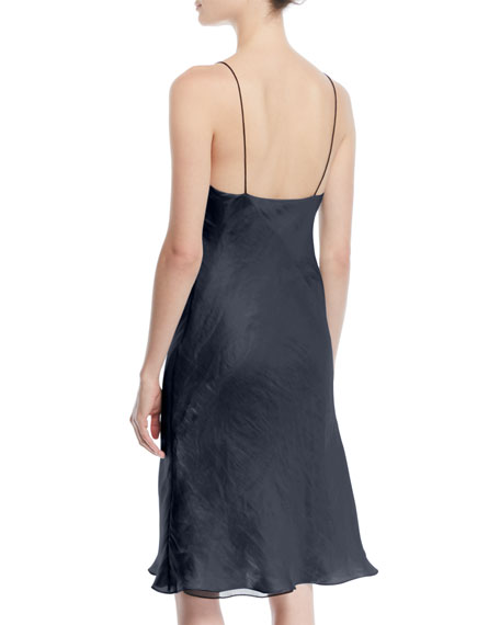 Astrid V-Neck Sleeveless Iridescent Slip Dress