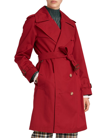 Crambeck Long Double-Breasted Trench Coat