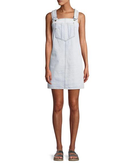 7 For All Mankind Dungaree Denim Mini Dress