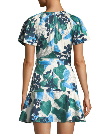 Reede Floral Flounce Mini Dress