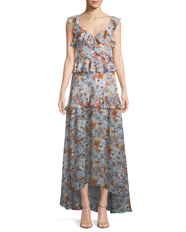 39f891db880 Alexis Jewell Floral Ruffle Maxi Dress