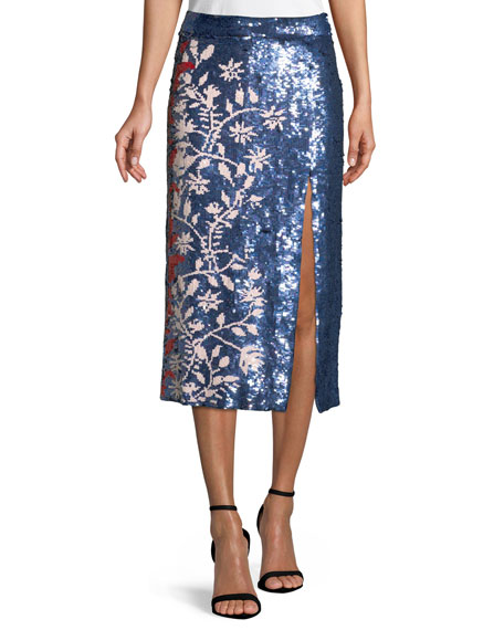 Elisa Sequin Vines Skirt