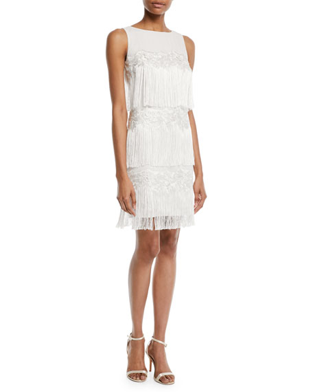 Tiered Fringe Cocktail Flapper Dress
