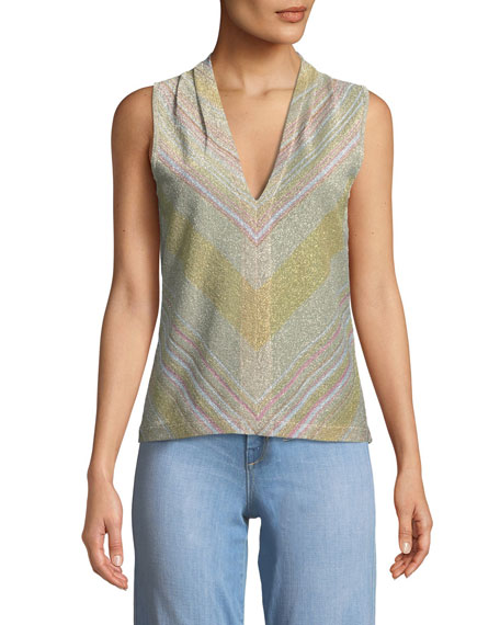 Ramy Brook Tobey Knit V-Neck Top