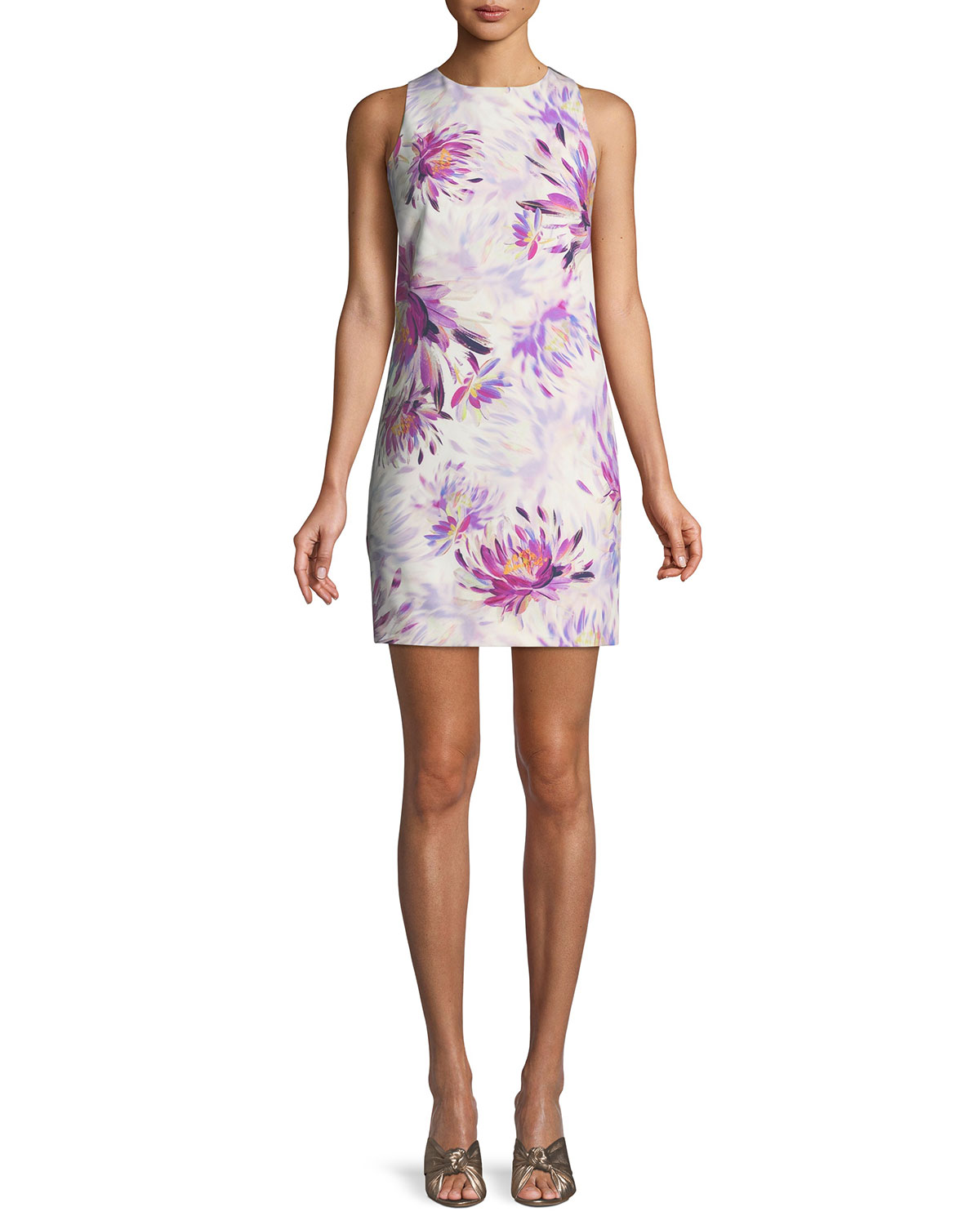d39785c893 Trina Turk Clemente Water Lily Twist-Back Dress