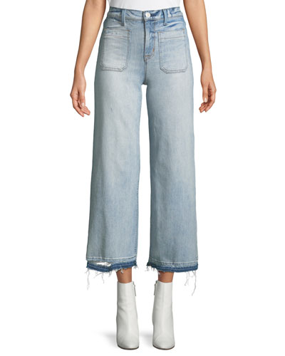 Holly Cropped Wide-Leg Jeans