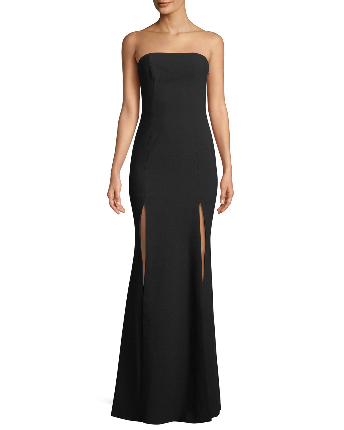 Likely Avalina Strapless Gown w/ Double-Slit