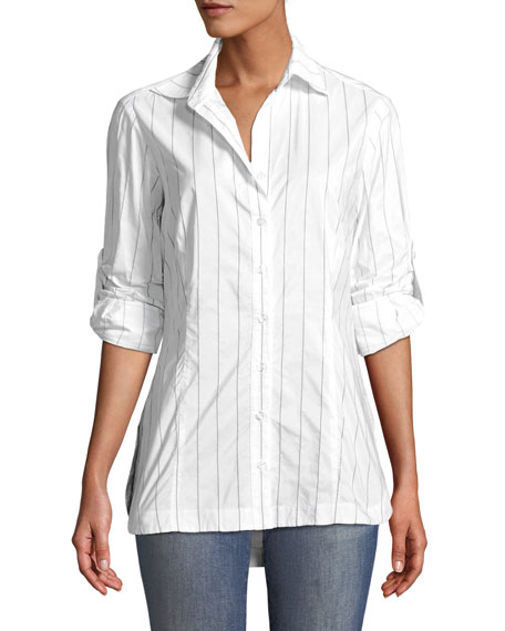 Finley Joey Tech Pinstriped Shirt