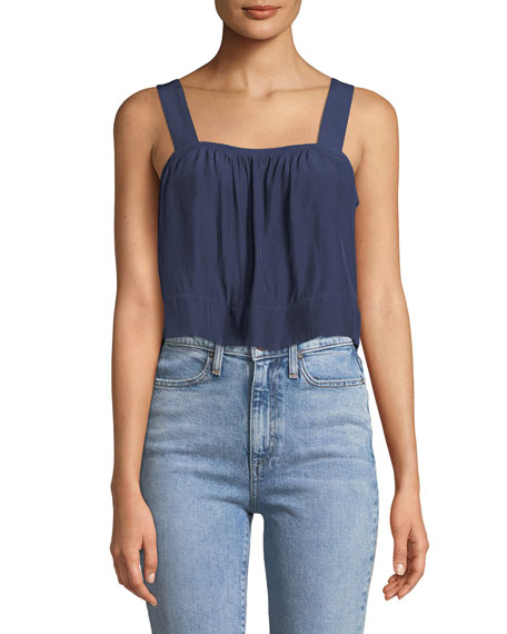 Ramy Brook Gwyn Square-Neck Sleeveless Cropped Top