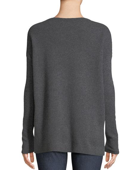 Pearl Crewneck Cashmere Sweatshirt