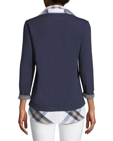 Samantha Popover Plaid Twofer Shirt