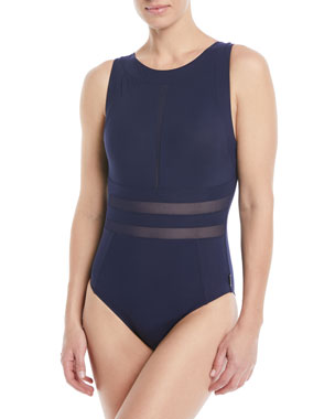 75b45ab4e3242 Shan Do You Think I'm Sexy High-Neck One-Piece Swimsuit
