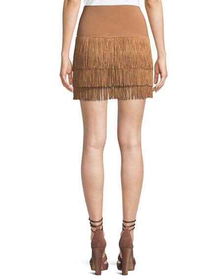 Jersey Shorts w/ Fringe Layers