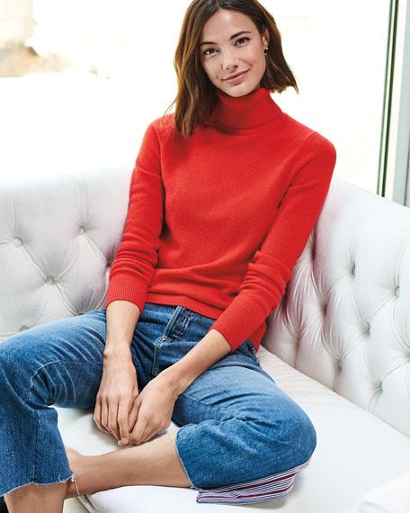 Cashmere Turtleneck Sweater, Plus Size