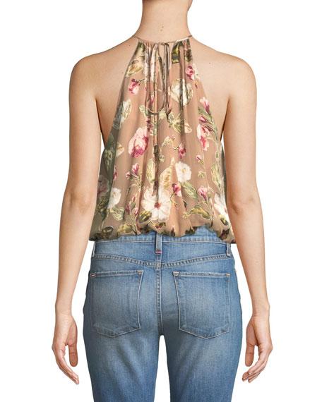 Rosa Floral-Print Silk Halter Top