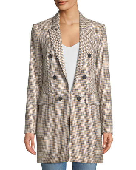 Liss Hook-Front Double-Breasted Jacket